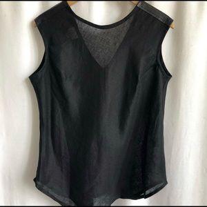 🌷3 FOR $25 SALE🌷 Whitney Linen black linen top